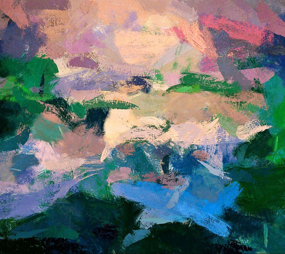 Abstract Art Garden Of Eden