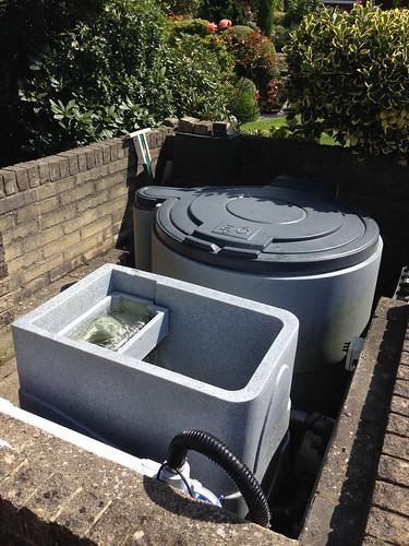 Large koi pond filteration