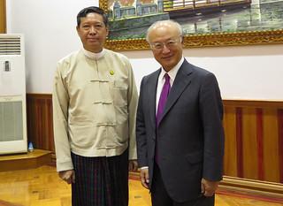 Yukiya Amano meets Dr Myo Thein Gyi (01811212) | IAEA Direct… | Flickr