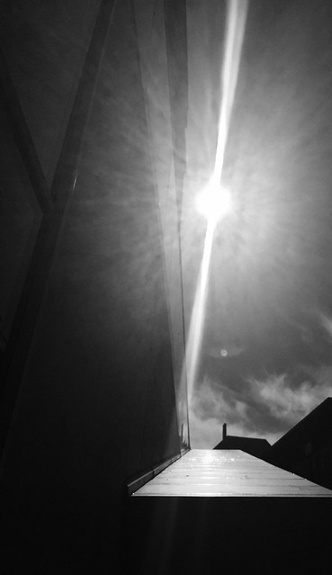Sun and glas ( I phone pic )