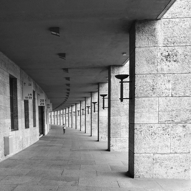 Passageway at Olympiastadion in Berlin
