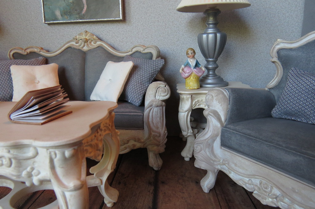1:6 Scale French Country Living Room | Furniture including t ...