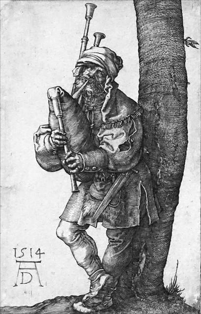 Le joueur de cornemuse d'Albrecht Dürer (Kupferstichkabinett, Berlin)