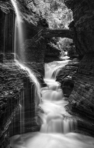 waterfall trioplan trioplan100 watkinsglen rainbowfalls monochrome panorama slowshutter nature landscape bw vertical newyork