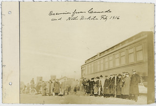 Excursion from Canada and North Dakota, Feb, 1916