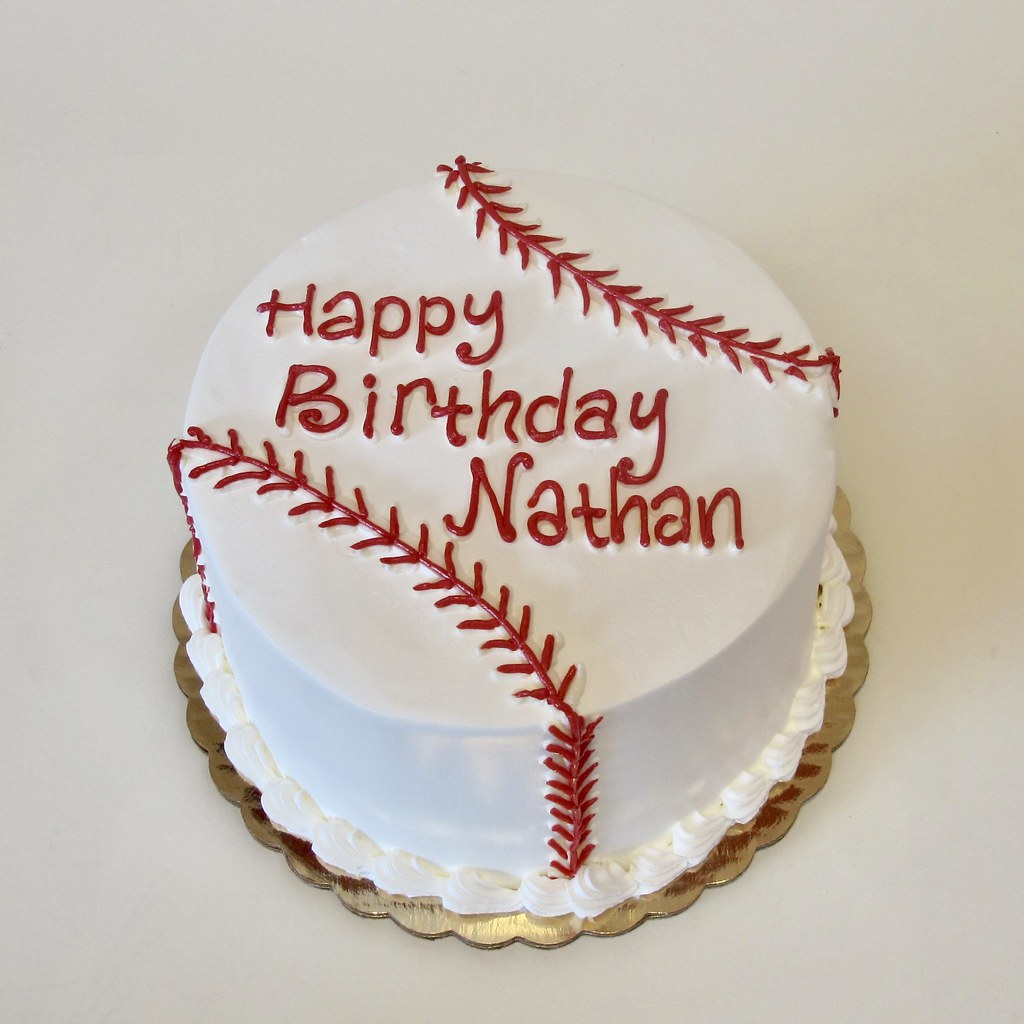 Phenomenal Baseball Stitching Birthday Cake 301026 Creative Cakes Tinley Personalised Birthday Cards Epsylily Jamesorg