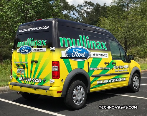 Ford Transit van wrap in Orlando by TechnoSigns