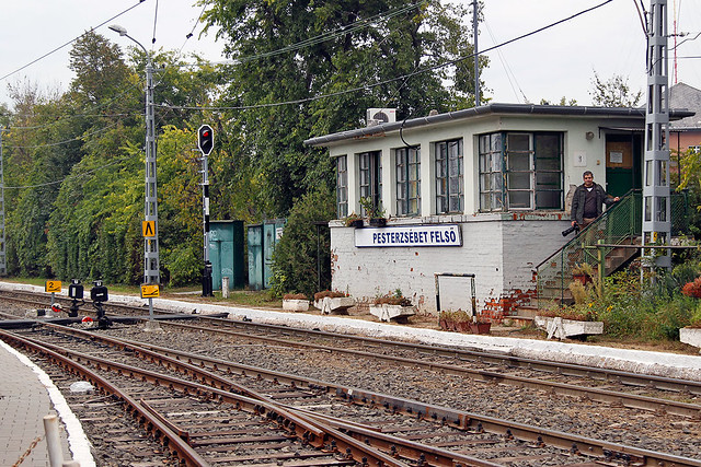 Signalbox of Pesterzsebet felso Station