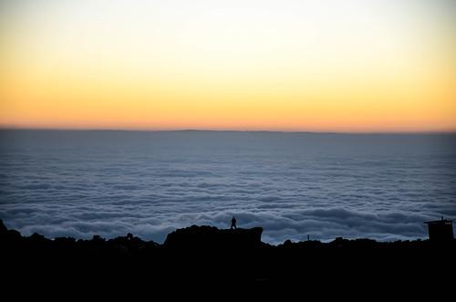 kilimanjaro tanzania hiking clouds