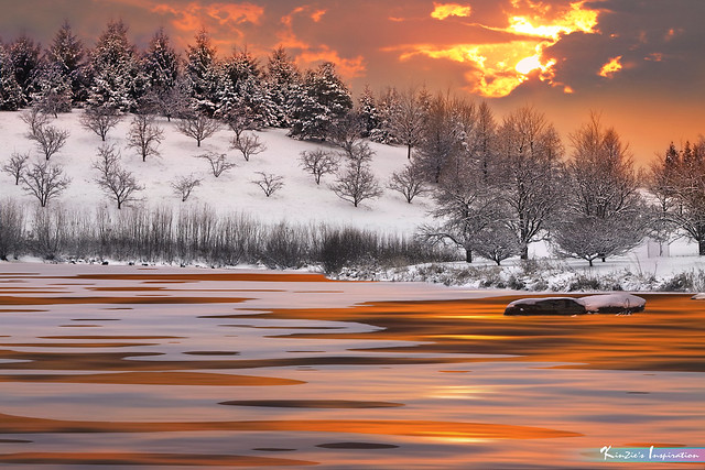 Ice Melting On Lake Surfaces in Winter *A Beautiful Nature*