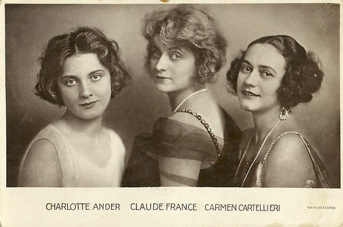 Charlotte Ander, Claude France, and Carmen Cartellieri