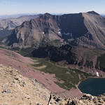 Unnamed lake below Red Mountain with Rising Wolf Mountain