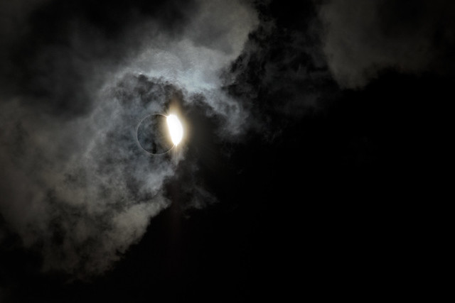 Diamond ring effect, 2017 Solar Eclipse, White County, Tennessee 3