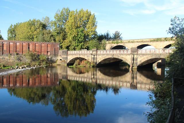 1st October 2014. Bridges over the River Don, Sheffield