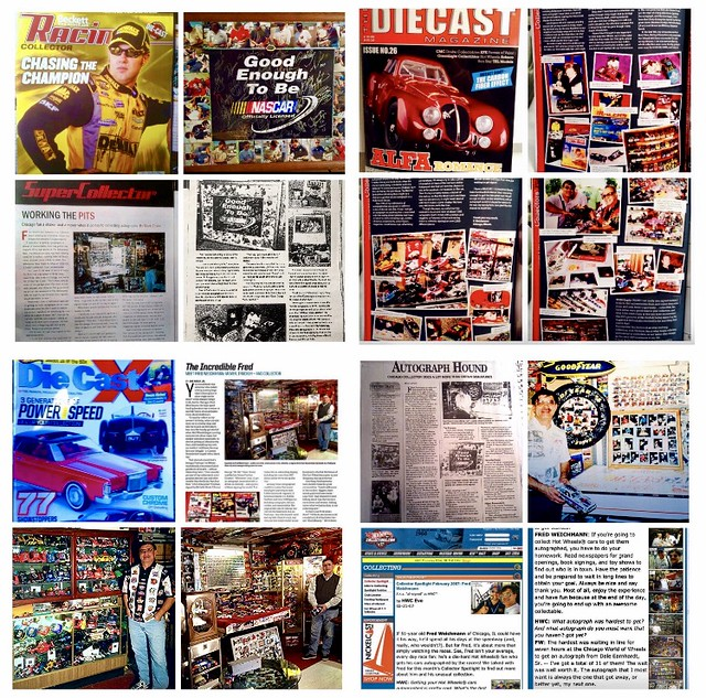 Some of the magazines and web site that I have been in are: