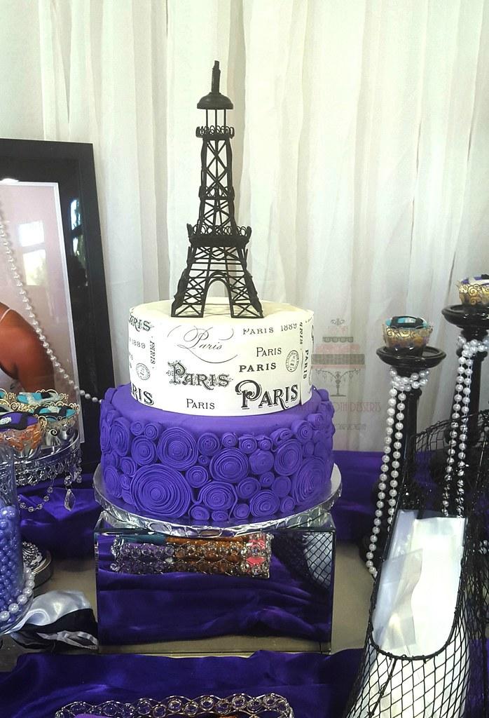 Fantastic Paris Themed Birthday Turquoise And Purple Paris Themed Bi Flickr Funny Birthday Cards Online Fluifree Goldxyz