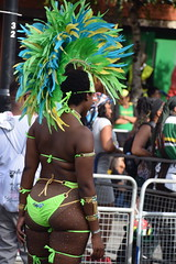 DSC_3191 Notting Hill Caribbean Carnival London Exotic Lime Green Colourful Costume Showgirl Performer Aug 28 2017 Stunning Lady Delightful Fine Ass