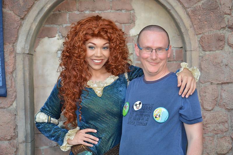 Drew meets Merida - the Scottish Princess, on his birthday