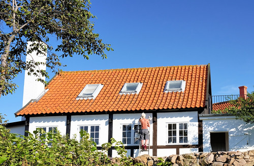 A half-timbered house by the seaside needs a lot of maintenance and care | by Lars Plougmann