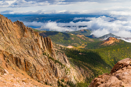 beautiful amazing weekend ef24105mm canon7dmarkii cliff rocky blue clouds forest green scenic view co colorado pikespeak sanden