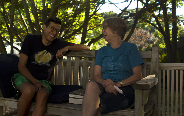 Mom and Carlos, sun porch; 22 Parker, Wakefield (2017)