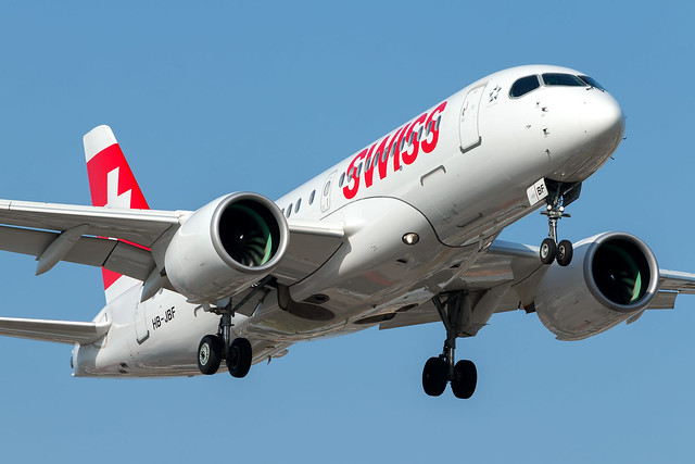 Swiss Bombardier CSeries CS100 HB-JBF - Florence Peretola Airport