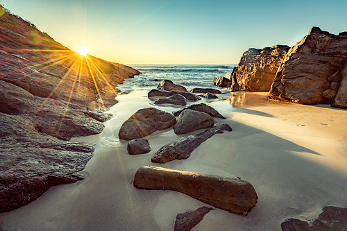 holidays summer sunrise sunset water blueybeach australia newsouthwales sea