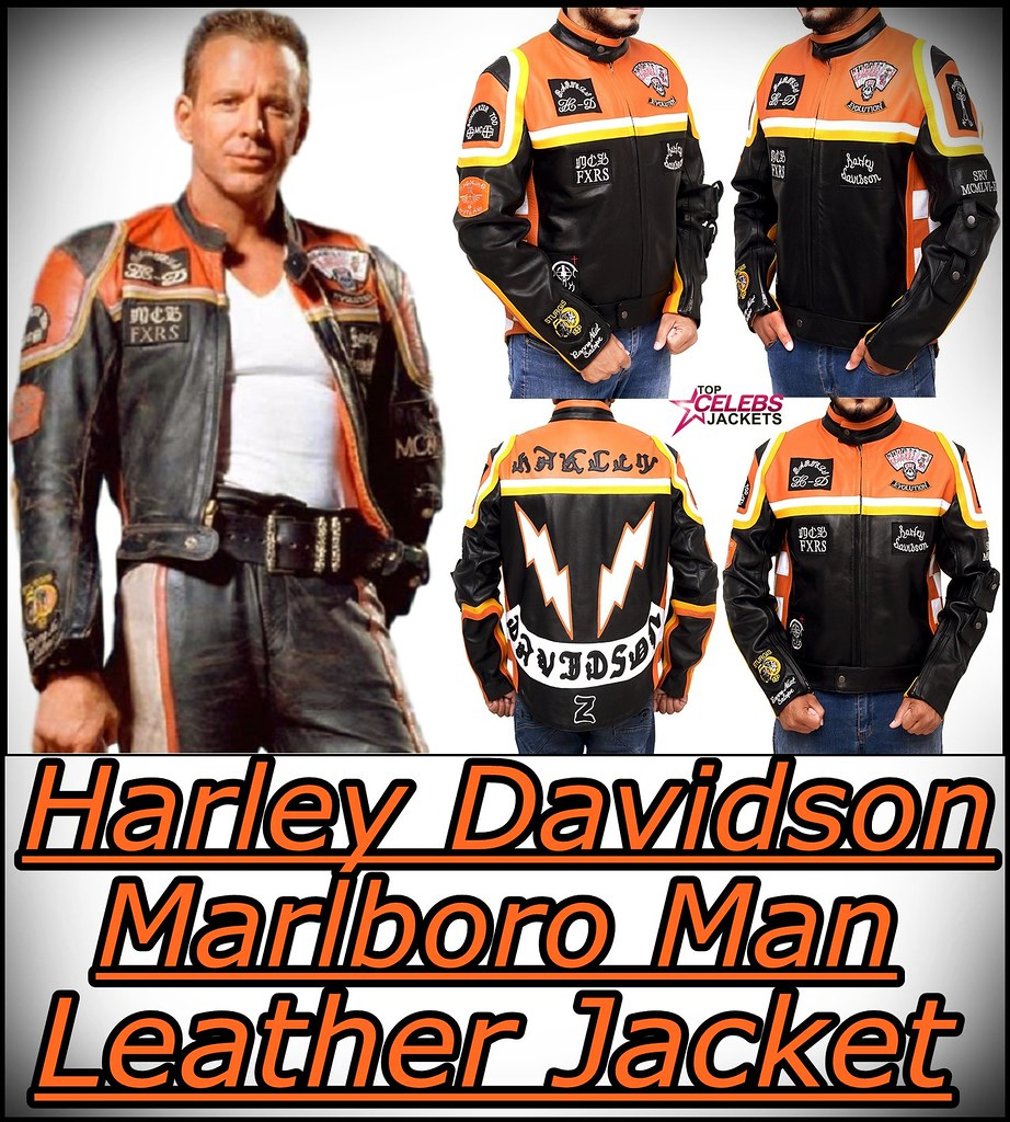 The Man Harley Davidson Leather Marlboro JacketGet 45Rjc3AqLS