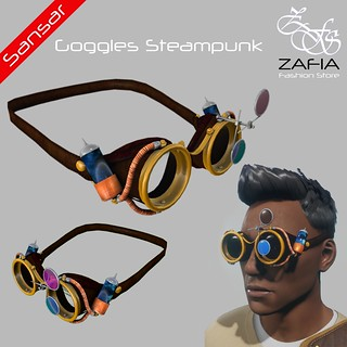 ZAFIA Goggles Steampunk Male Sansar | by ZAFIA Fashion Store-METAPHOR