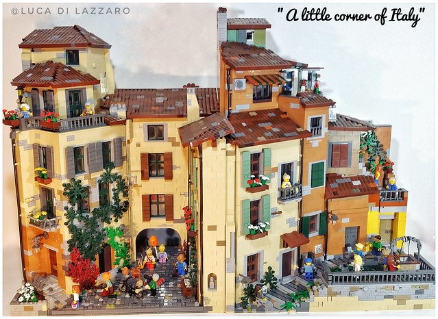 Complete moc 'a little corner of Italy ""