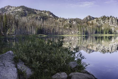 bigtrinitylake camping lake reflection