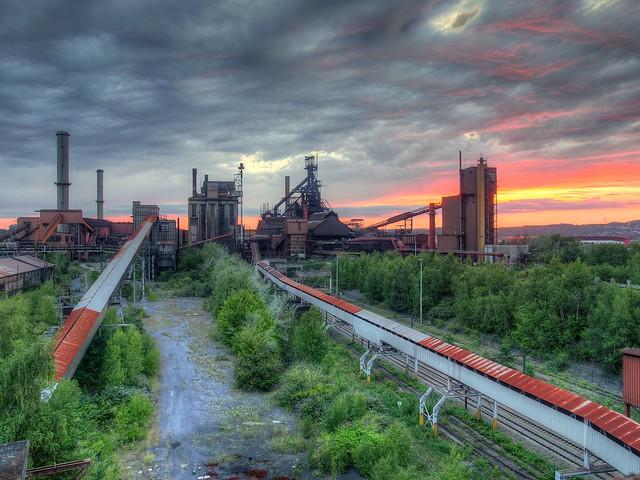 Silent Industrial Sunset