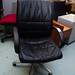 Executive black leather swivel chair E45
