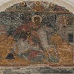 King David painted fresco murual in Alaverdi
