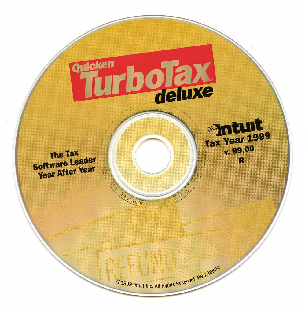 TurboTax Deluxe (Tax Year 1999 v99 00) (Intuit) (1999)   Flickr