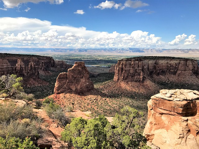 View from the Grand View Overlook in the Colorado National Monument