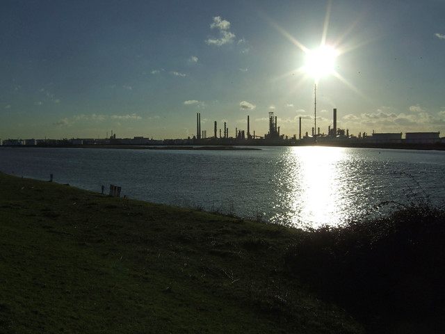 Coryton Oil Refinery from Canvey Island