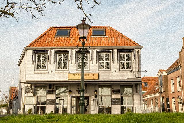 A Pizza Restaurant in Enkhuizen, Holland