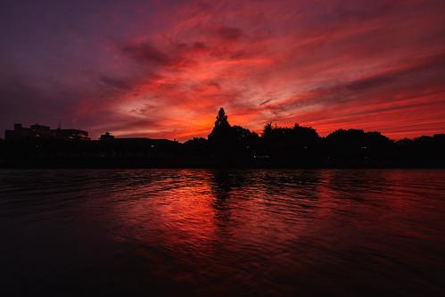 eos5dmarkⅳ tse17mmf4l sunset river