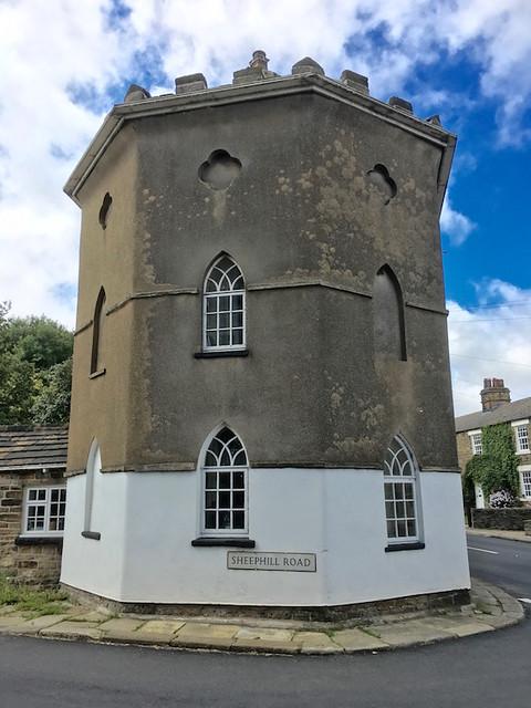 The octagonal tower Sheffield to Bamford walk