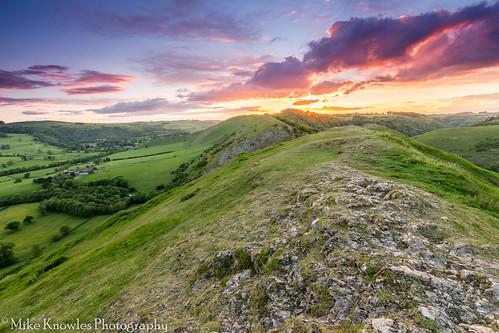 sunset derbyshire peakdistrict dovedale bunsterhill thorpecloud canon canon650d nd ndfilter mikeknowles mountain mountains hill hills rocks nationaltrust nationalpark beautifulsky sky clouds
