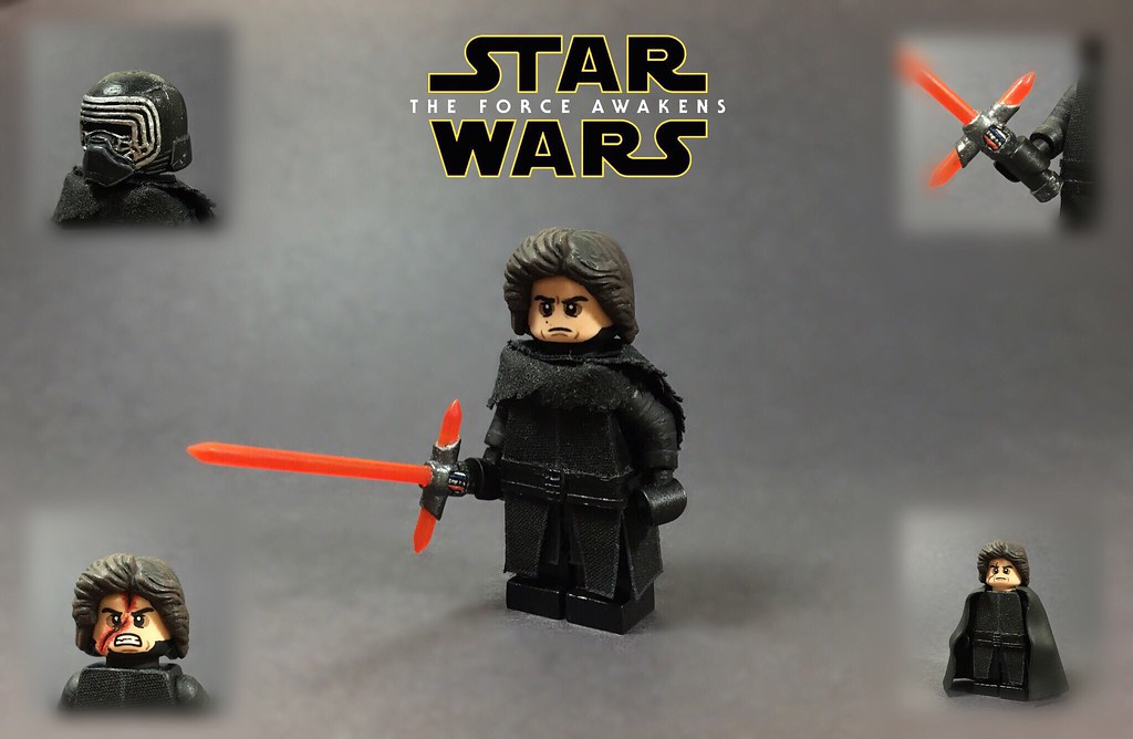 Star Wars Kylo Ren Force Awakens custom Lightsaber hilt made using LEGO parts