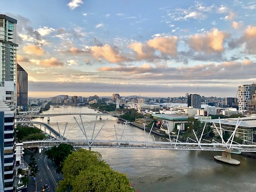 sky clouds weather skyline horizon cityview cityscape metro river bridges australia brisbanequeensland enlight snapbrisbane