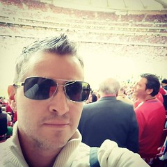 That's the inside of Wanda Metropolitano behind my head. I promise. #wandametropolitano #atleti #atleticomadrid