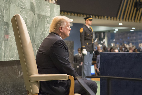 US President Waits to Address General Assembly | by United Nations Photo