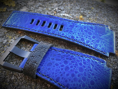 Blue toad for Bell&ross BR 03 crapaud buffle | by XamLam Strap