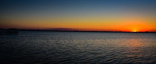 melbournebeach florida unitedstates us sunset over indian river melbourne beach fl fla america american usa water ocean atlantic bay inlet cove dusk evening pano panoramic panorama vista