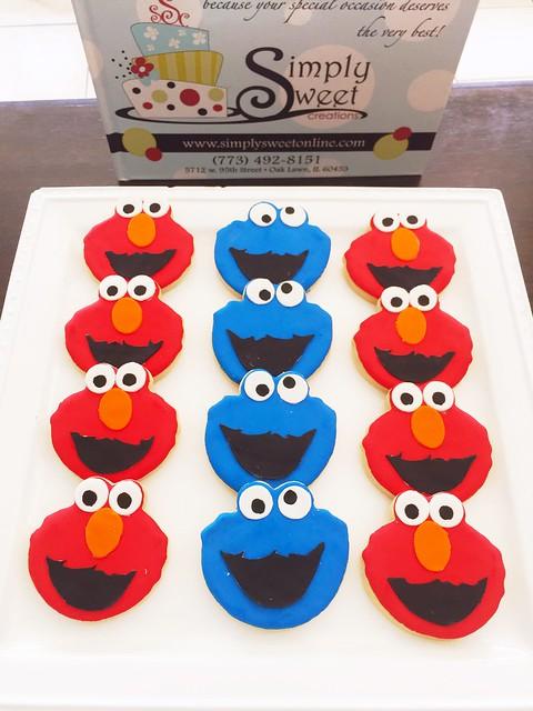 Elmo and Cookie Monster Cookies