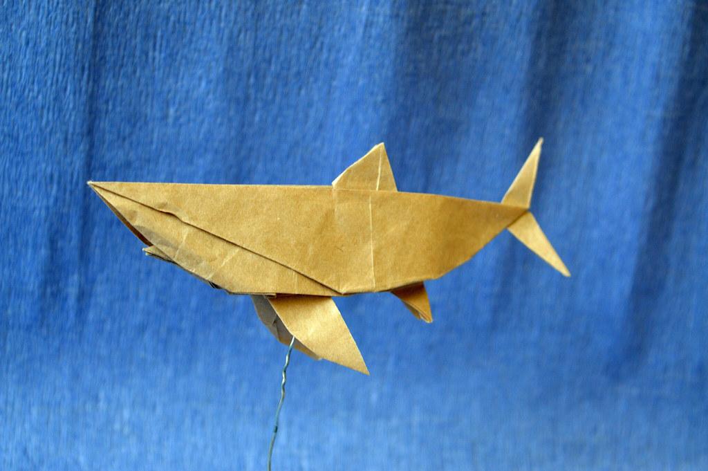 Origami Hammerhead SHARK - Origami easy tutorial - YouTube | 681x1024