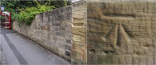 DONISTHORPE HALL, BOUNDARY WALL, CUT BENCH MARK. | by I.K.Brunel